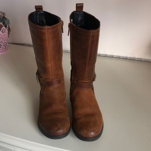 Toddler girls leather boots